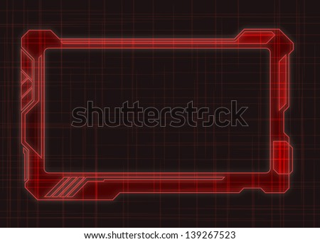 red futuristic screen tablet