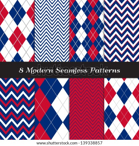 patriotic argyle and chevron