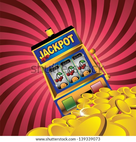 slot machine with gold coins