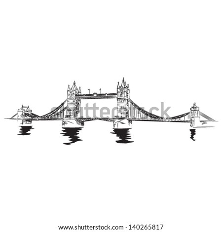 tower bridge of london   vector