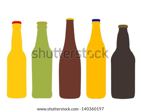 different kinds of beer bottles