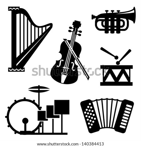 set vector black and white