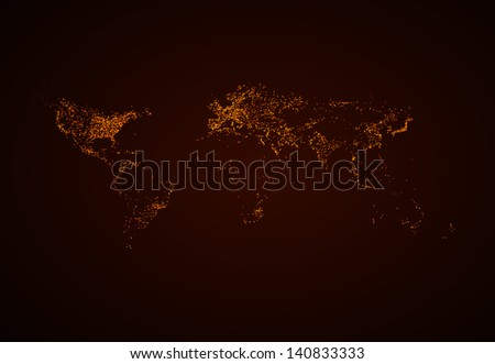 night world map eps10 vector