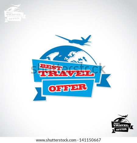 travel sticker   vector