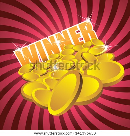 winner gold coins design