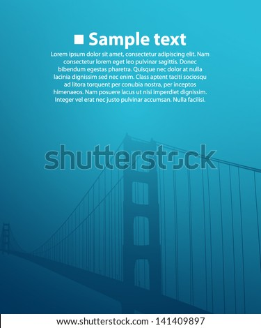 bridge on the blue background