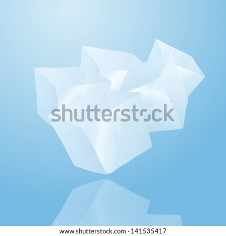 five ice cubes eps10 vector