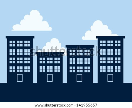 apartment building silhouettes