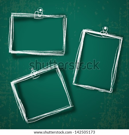 set of photo frames on abstract