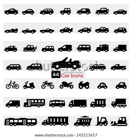 cars icon set