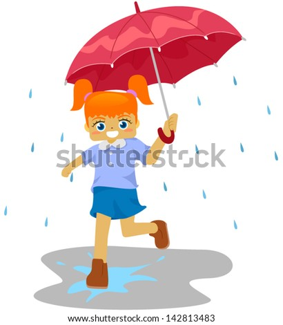 kid girl umbrella