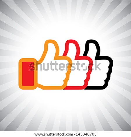 concept vector graphic  social