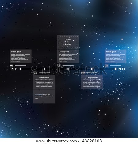time line template with shining
