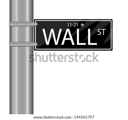 wall street sign isolated on