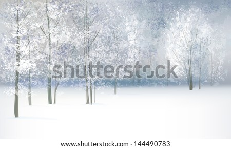 vector of winter landscape