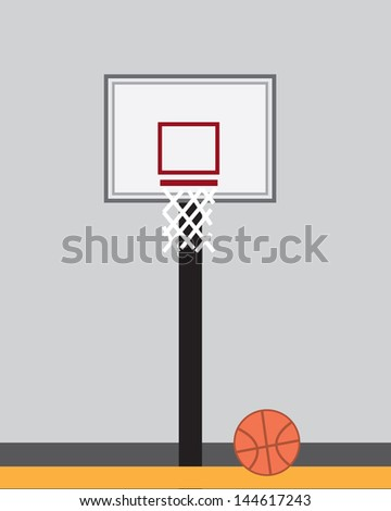 basketball hoop inside indoor