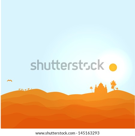 vector desert illustration