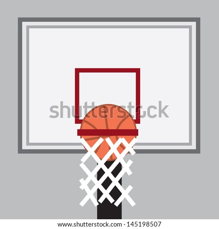 basketball going through