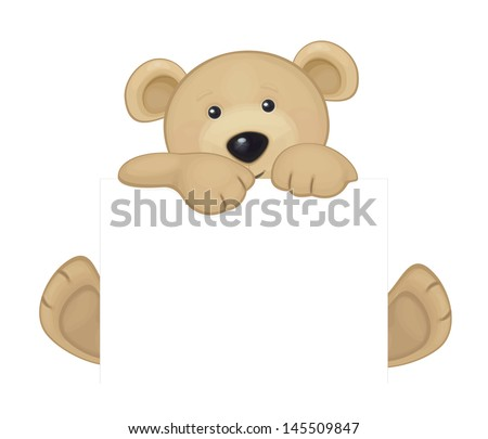 vector of cute brown bear