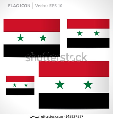 syria flag template   vector