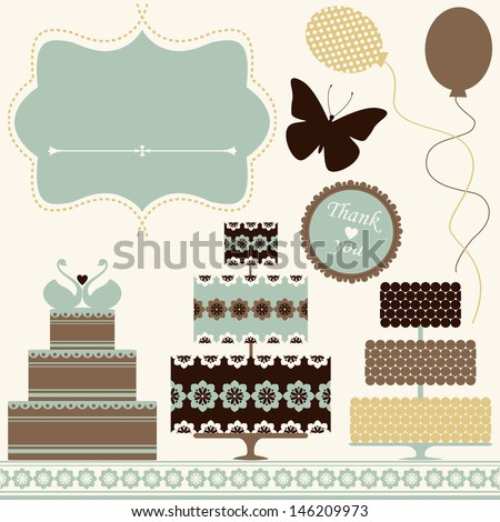 vector set of celebration or