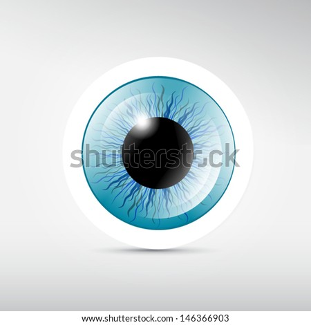 abstract vector blue eye on