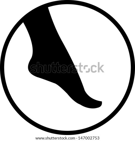 female foot vector isolated