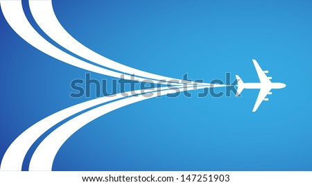 airplane symbol vector design