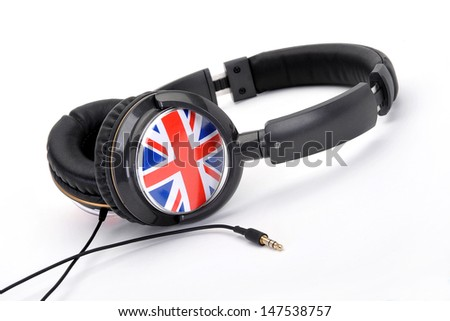 headphones with union jack