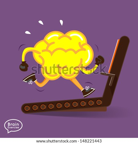 brain charactor vector design