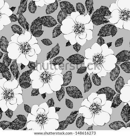 seamless abstract floral