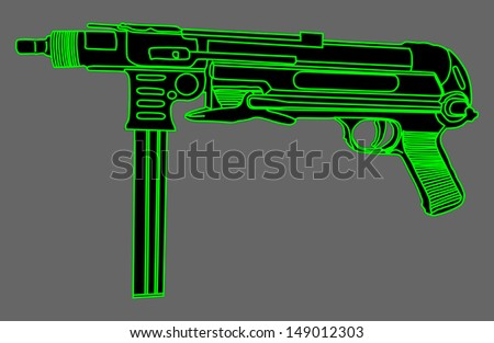 black rifle shilouette vector