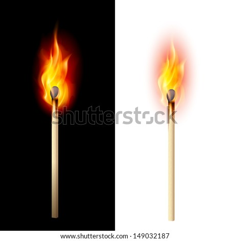 realistic burning match