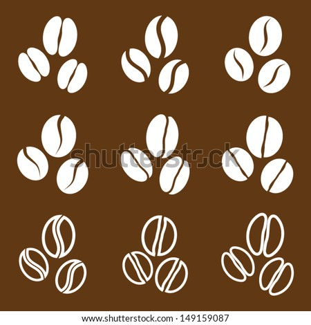 vector collection  coffee beans