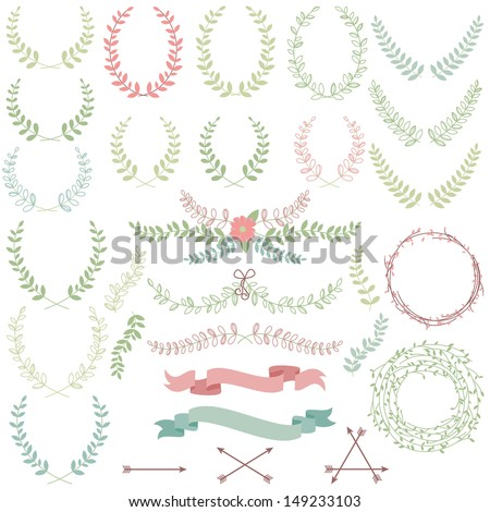 vector collection of laurels