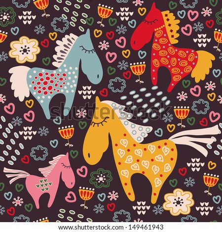 seamless pattern with horses