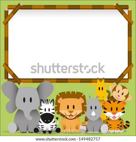 vector cute wild animals and