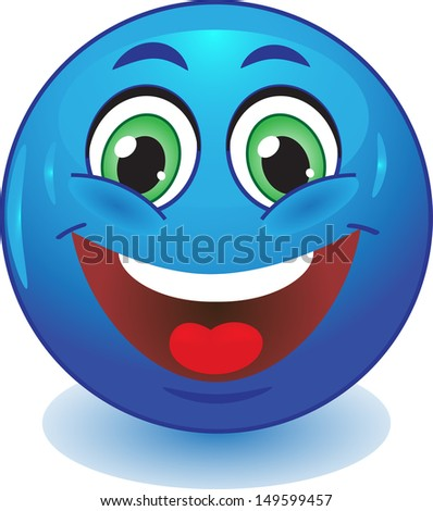 blue smiley smiles