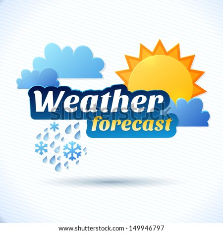 vector weather forecast for tv