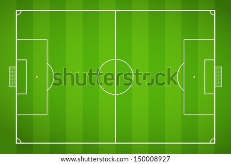 top view of soccer field or