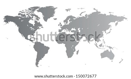 silver vector map of the world