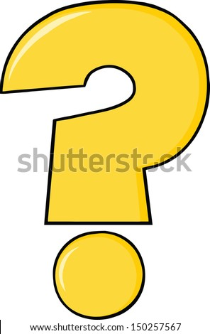 yellow cartoon question mark