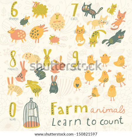 farm animals learn to count
