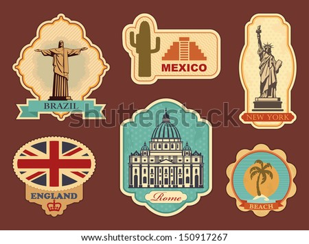stickers of travel  brazil