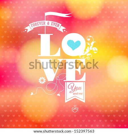 abstract romantic card soft