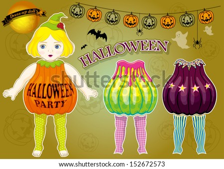dress up doll halloween version