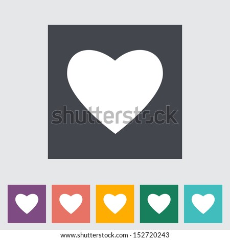 heart flat icon  white