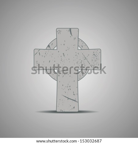 stone celtic cross vector