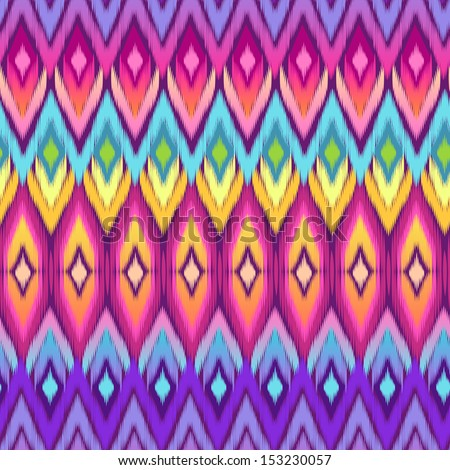 rainbow ikat vector   seamless