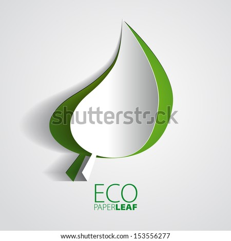 eco paper leaf   vector element